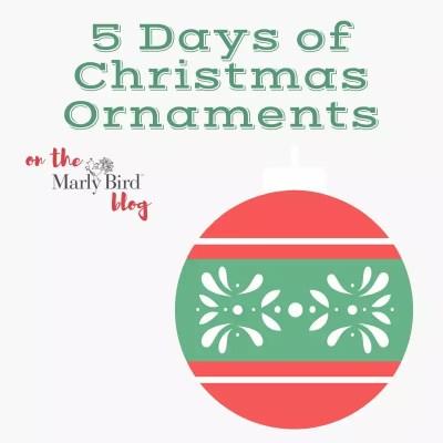 A week of Yarn Scrap Christmas Ornaments