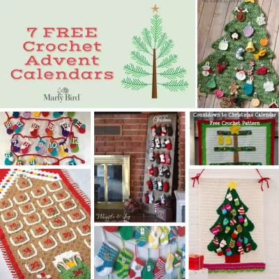 7 FREE Crochet Advent Calendars
