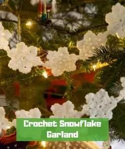 Crochet Snowflake Garland