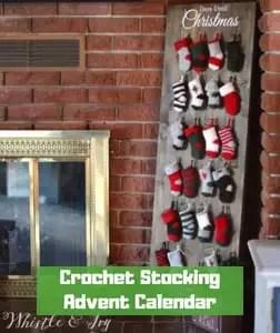 7 FREE Crochet Advent Calendars-Crochet Stocking Advent Calendar