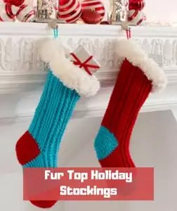Fur Top Holiday Stockings by Jessie Rayot