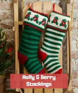 Holly & Berry Stockings by Michele Thompson