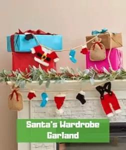 Santa's Wardrobe Garland by Rebecca J. Venton