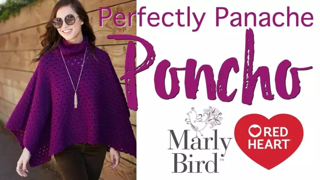 Crochet Video Tutorial-How to make the Perfectly Panache Crochet Poncho with Chic Sheep by Marly Bird ™