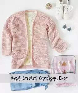 Best Crochet Cardigan Ever-FREE Pattern from Red Heart