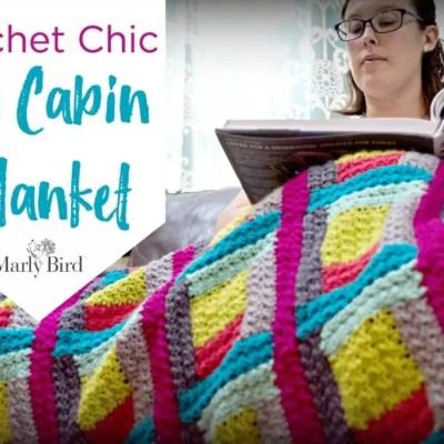 Making of the Chic Log Cabin Crochet Blanket: