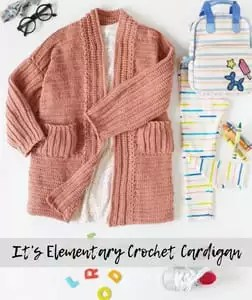 It's Elementary Crochet Cardigan-FREE pattern from Red Heart