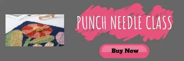 Try out a punch needle class with creativebug