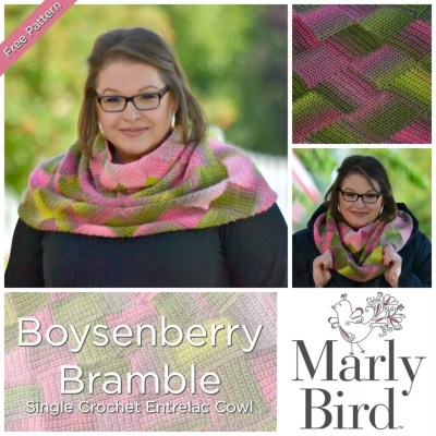 FREE Single Crochet Entrelac Cowl-Boysenberry Bramble Cowl