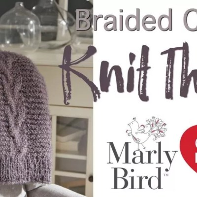 Knitting Video Tutorial-Braided Cable Knit Throw