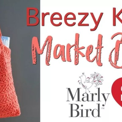 Video Tutorial with Marly Bird: Reusable Easy Breezy Knit Market Bag