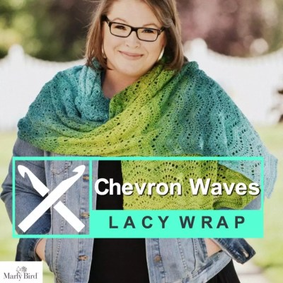 Introducing the FREE Crochet Chevron Waves Wrap Pattern