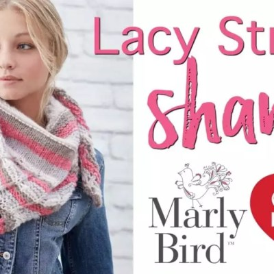 Video Tutorial-How to Make the Lacy Stripes Knit Sha