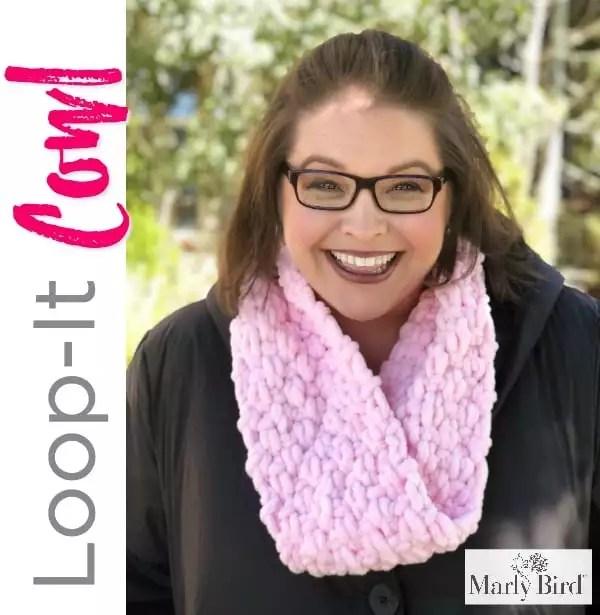 Loop-it Puffy Seed Stitch Cowl