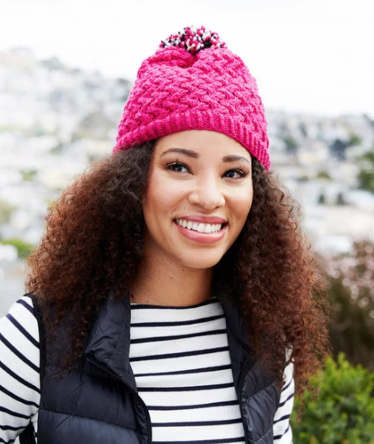 Curvaceously Chic Hat FREE Knit Hat pattern By Marly Bird