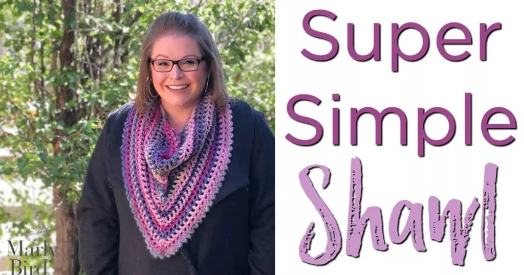 FREE Crochet Shawl Pattern-Super Simple Crochet Shawl