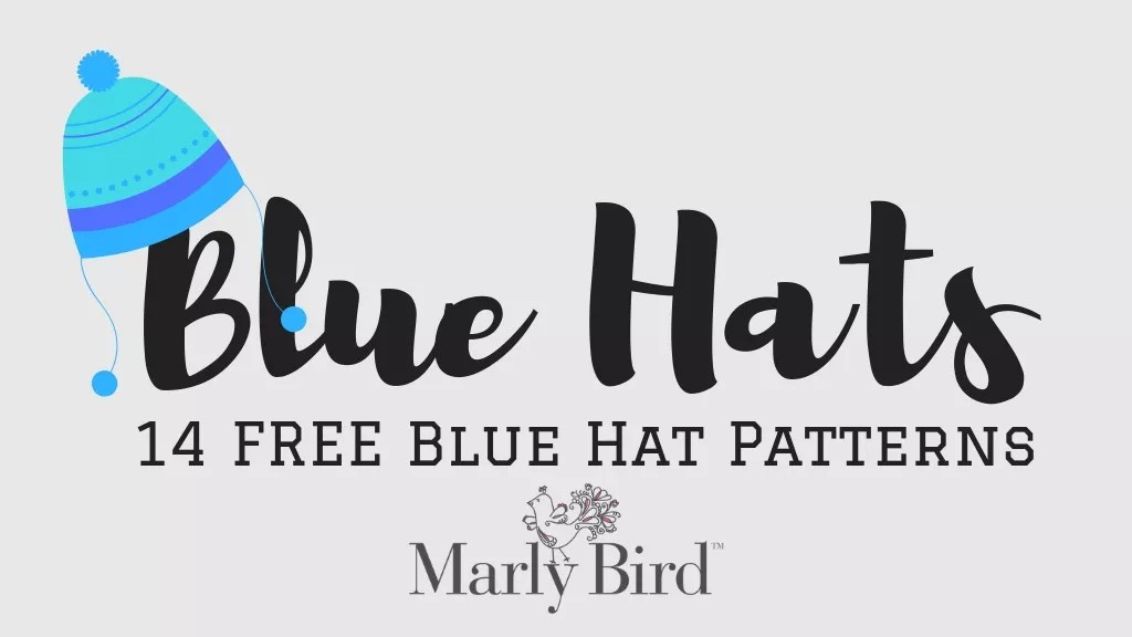 Blue Hats-14 free blue hat patterns