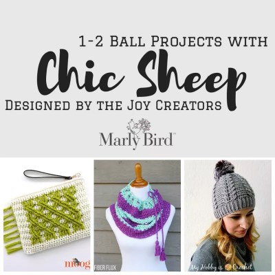 Chic Sheep Patterns with only 1 or 2 balls-from the Joy Creators