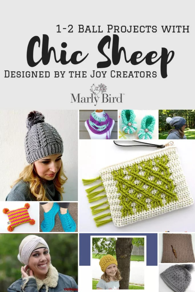 Chic Sheep patterns with 1-2 balls by the Joy Creators