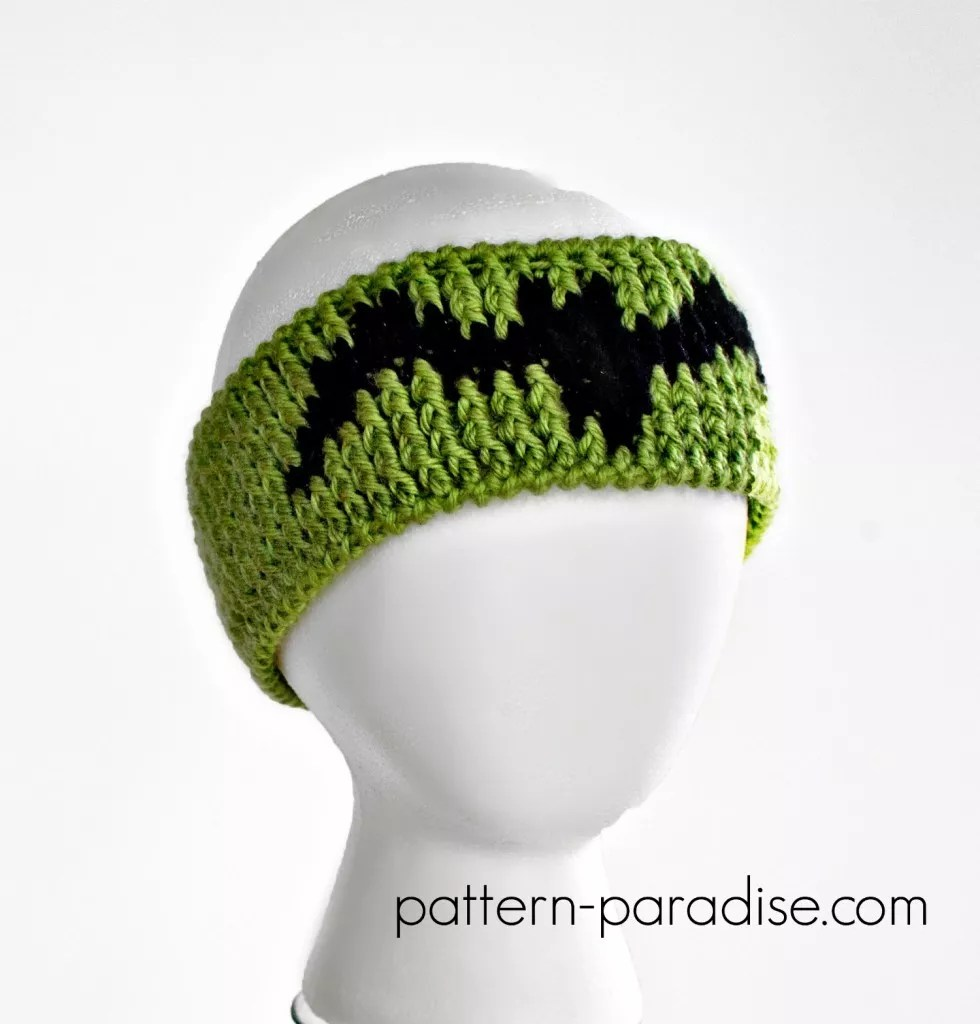 Halloween Graph Headband Designed by Pattern Paradise