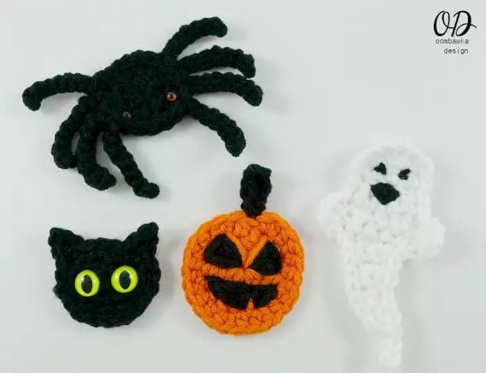 Happy Halloween Embellishments Designed by Oombawka Designs