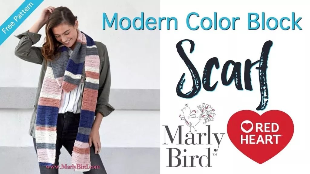 Video Tutorial for the Modern Color Block Scarf- Beginner Crochet Scarf