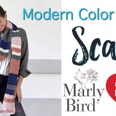 Beginner Crochet Scarf-Modern Color Block Scarf