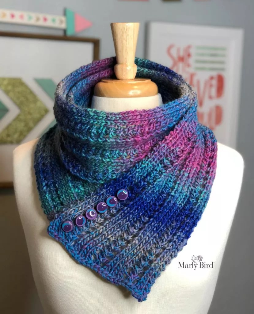 Super Simple Rib and Lace Scarf Cowl - Marly Bird™