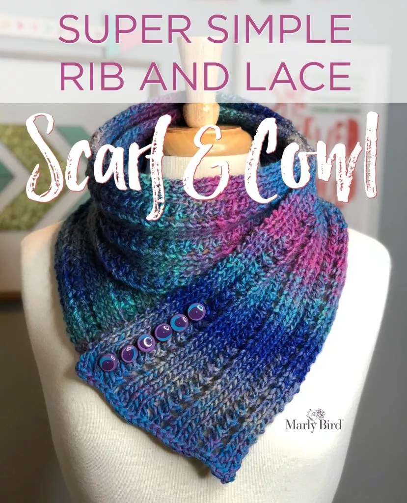 Super Simple Rib And Lace Scarf Cowl Marly Bird