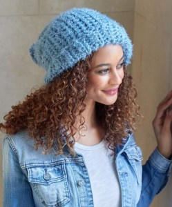 14 FREE Blue Hats Patterns-Simply Slouchy Crochet Hat