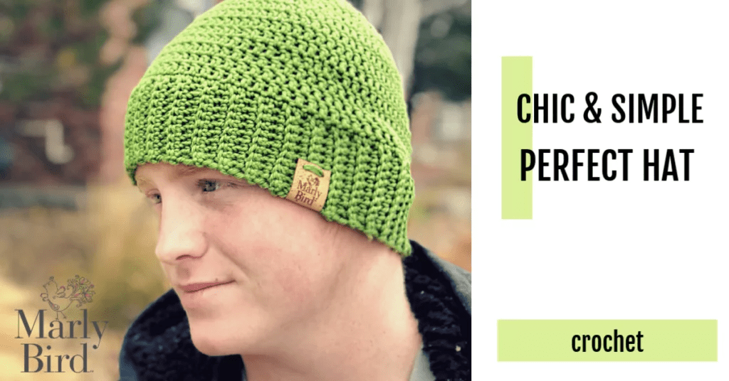 FREE Crochet Hat by Marly Bird-Chic and Simple Perfect Hat