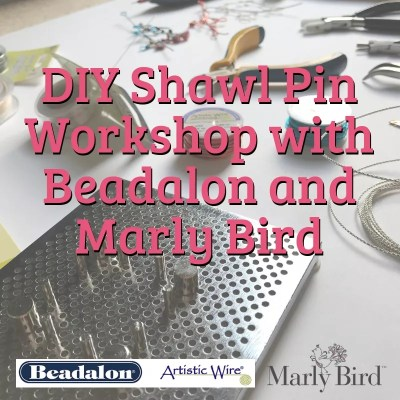 DIY Shawl Pins with Beadalon Wire