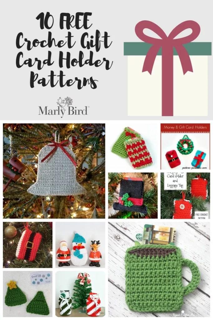 10 FREE Crochet Gift Card Holders
