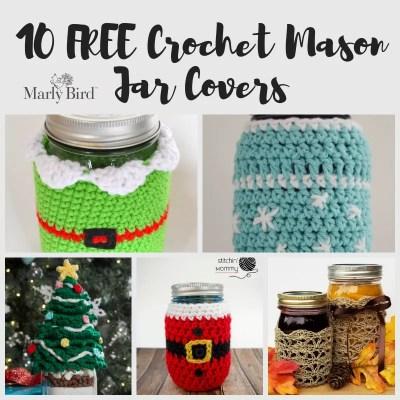 Crochet Mason Jar Covers-10 FREE Patterns