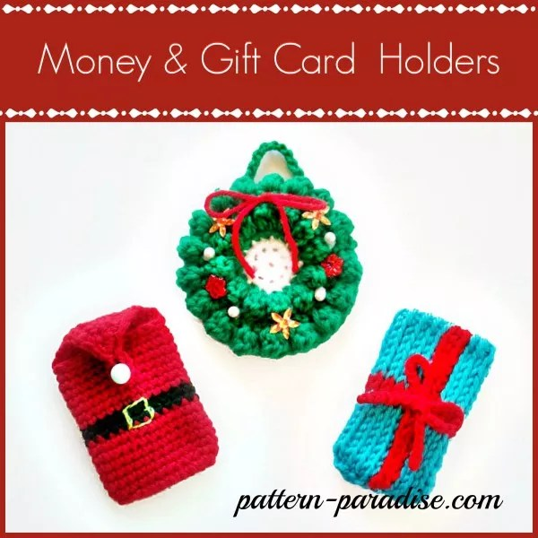 Crochet Gift Card Holder Designed by Pattern Paradise