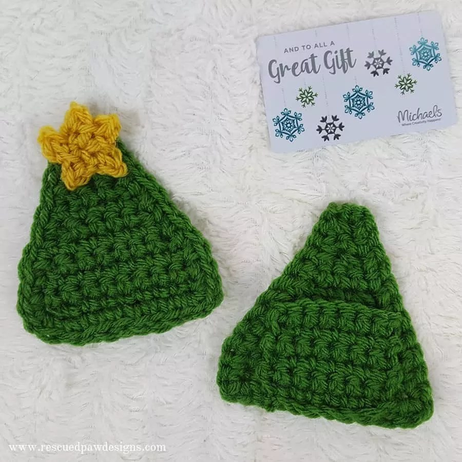 Crochet Gift Card Holder-Christmas Tree Designed by Rescued Paw Designs