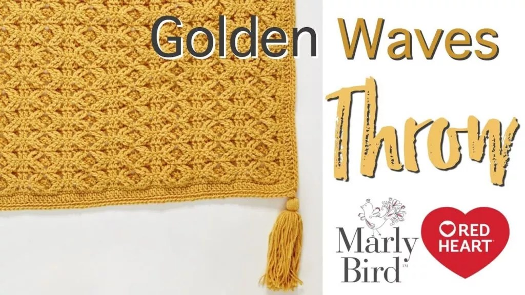 Video Tutorial-How to Crochet the Golden Waves Throw-Crochet Cabled Throw