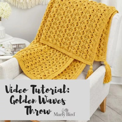 FREE Video Tutorial-Golden Waves Throw