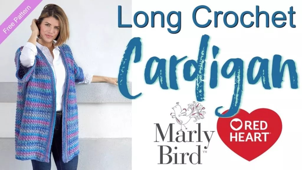 Video Tutorial and FREE Pattern for the Long Crochet Cardigan