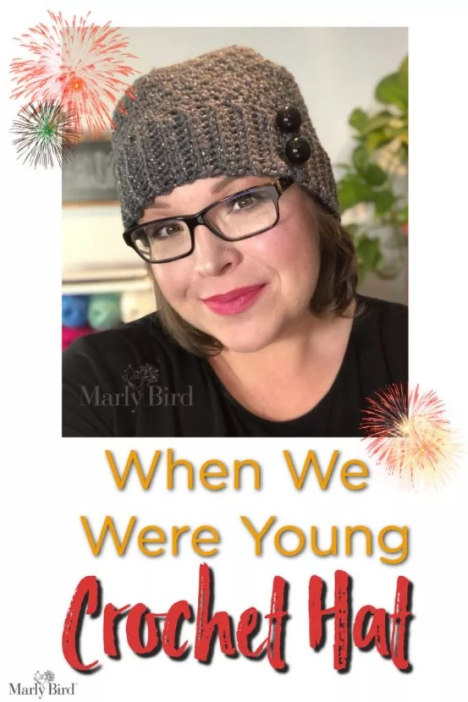 FREE Crochet Hat Pattern-When we were young-designed by Marly Bird
