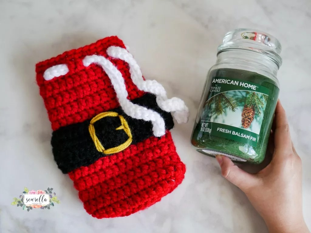 FREE Santa Bag Candle and Jar Cover designed by Sewrella