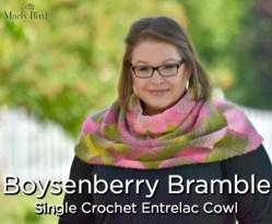 Boysenberry Bramble Single Crochet Entrelac Cowl by Marly Bird