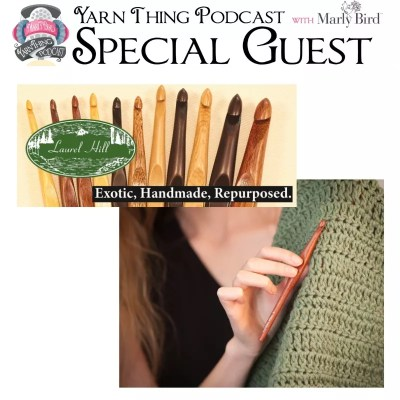 Wood Crochet Hooks with Laurel Hill