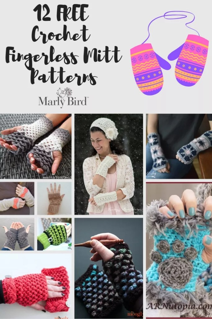 FREE Crochet Fingerless Mitts Patterns