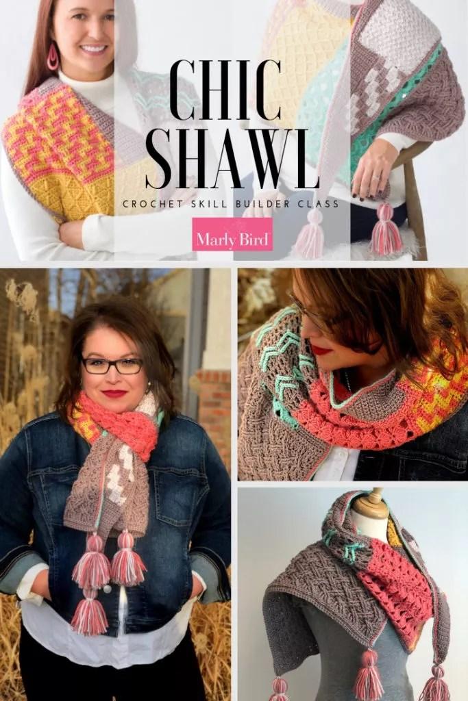 Crochet Shawl Class-Chic Shawl-Crochet Skill Builder Class