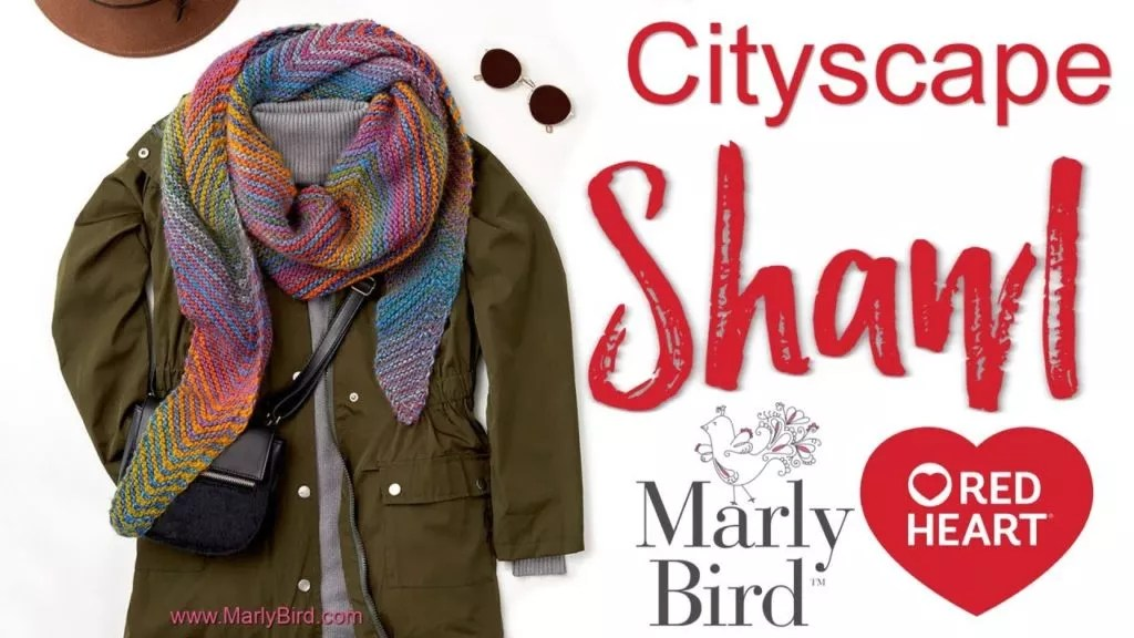 Video Tutorial and FREE knit shawl pattern-Cityscape Shawl