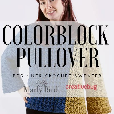 Beginner Crochet Sweater with Colorblock