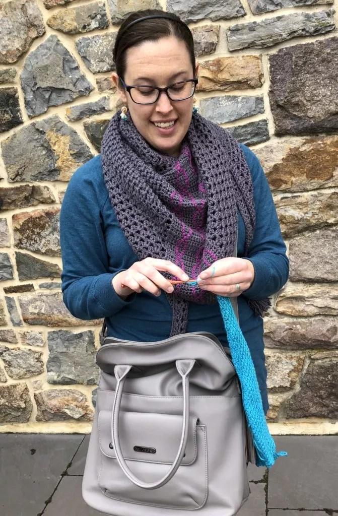 Jimmy Beans Wool Namaste Fold Over Bag