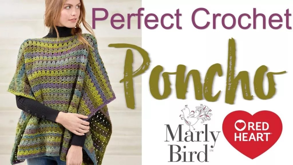 FREE Crochet Poncho Pattern with Video Tutorial-Beginner Crochet Poncho