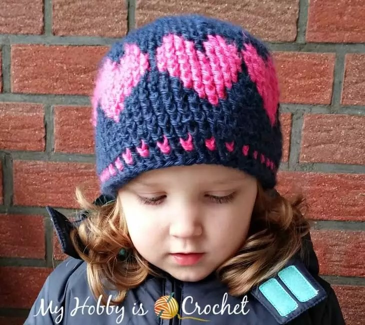 FREE Crochet Heart Hat